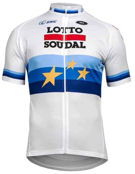 Maillot Champion Europe CLM 2018