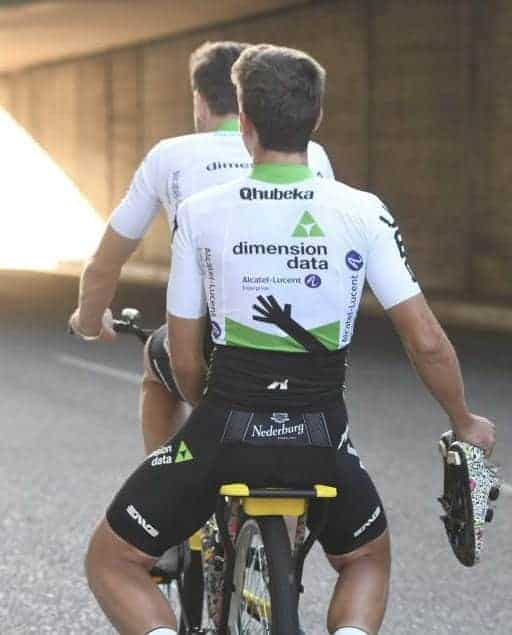 Le maillot de l'équipe Dimension Data 2019