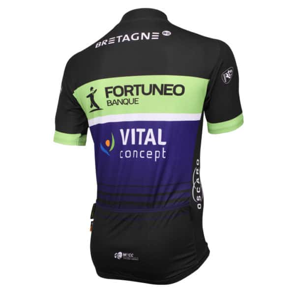 Maillot Fortuneo-Vital Concept 2016 dos