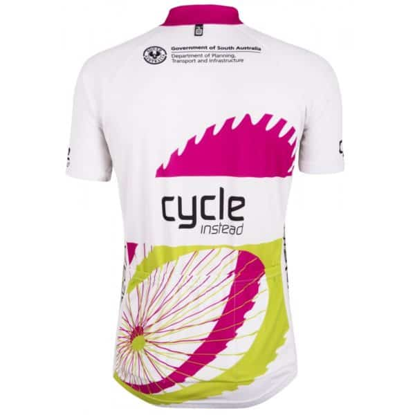 Maillot blanc Tour Down Under 2015 dos