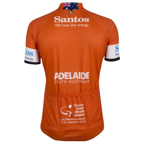Maillot ocre Tour Down Under 2015 dos