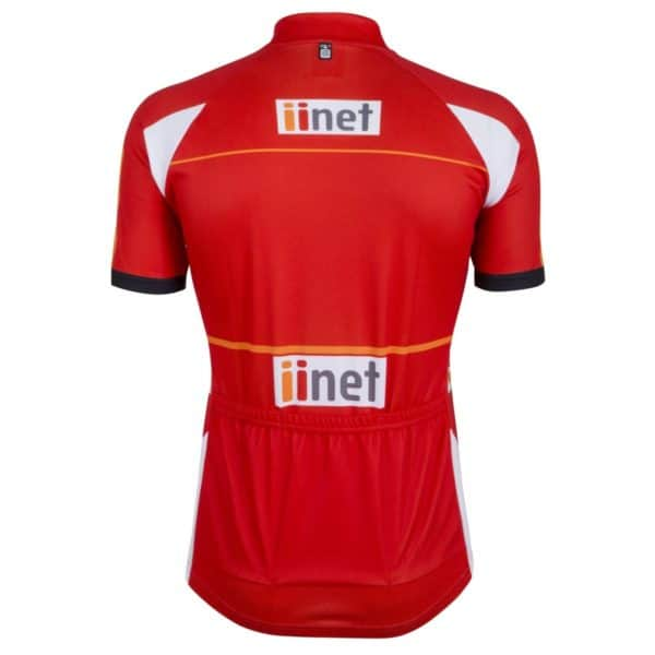Maillot rouge Tour Down Under 2015 dos
