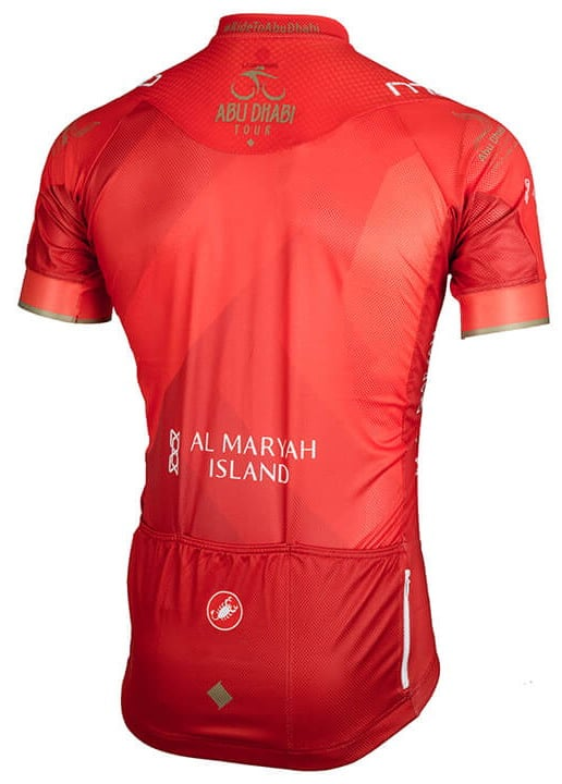 Maillot rouge Tour Abu Dhabi 2018 dos