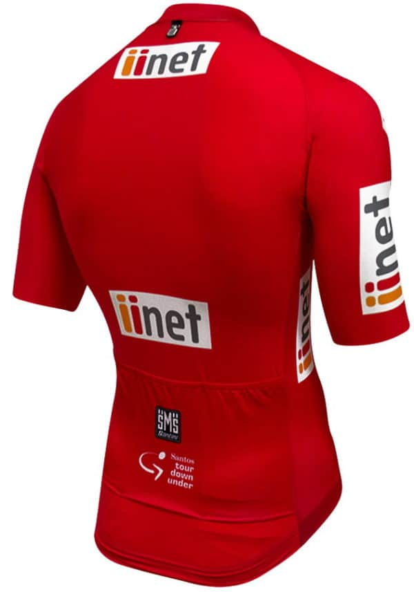 Maillot rouge Tour Down Under 2017 dos