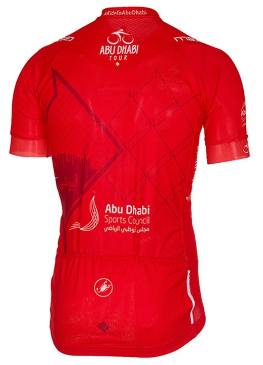 Maillot rouge Tour Abu Dhabi 2016 dos