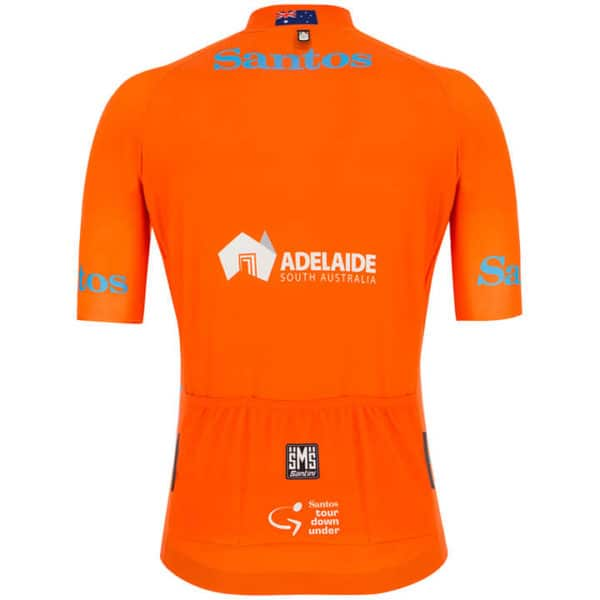 Maillot ocre Tour Down Under 2019 dos